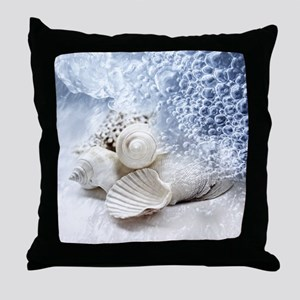 Seashells washed ashore Throw Pillow