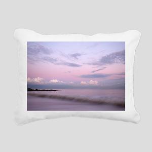 Serene coastal scene at  Rectangular Canvas Pillow