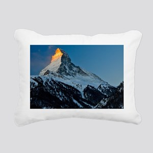 View of Matterhorn, Alps Rectangular Canvas Pillow