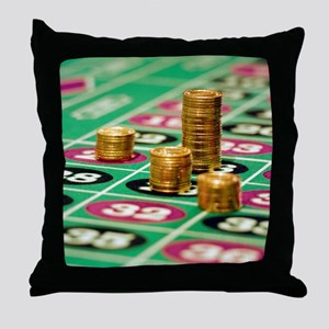 Stacks of Poker Chips Throw Pillow