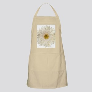 White gerbera daisy isolated on white. Apron