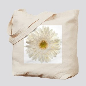 White gerbera daisy isolated on white. Tote Bag