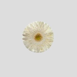 White gerbera daisy isolated on white. Mini Button