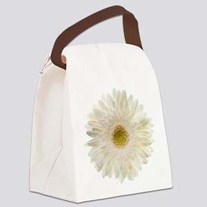 White gerbera daisy isolated on w Canvas Lunch Bag