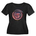 Black Dragon Women's Plus Size Scoop Neck Dark T-S
