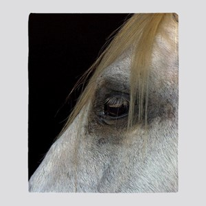 White Horse. Throw Blanket