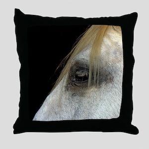 White Horse. Throw Pillow