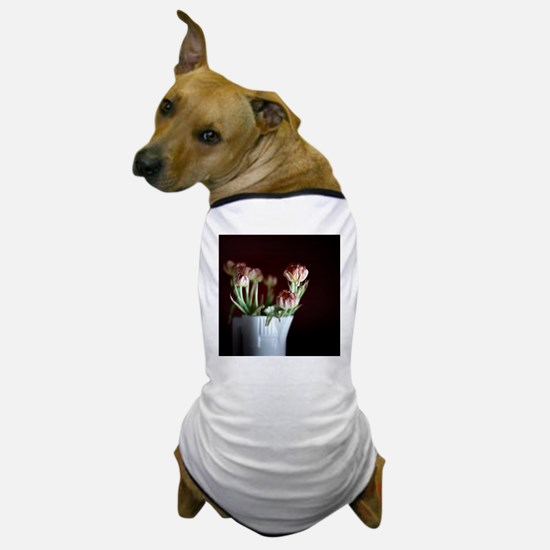 White vase with flowers. Dog T-Shirt