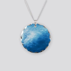 Wave, full frame Necklace Circle Charm