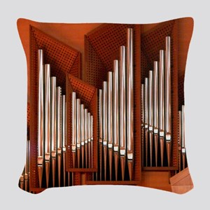 View of right section of organ Woven Throw Pillow
