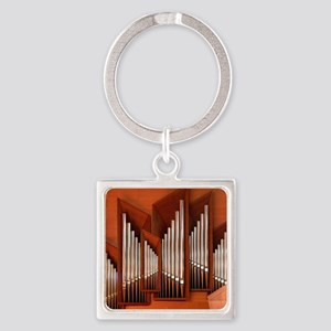 View of right section of organ of  Square Keychain