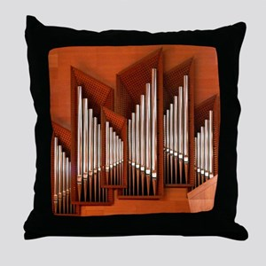 View of right section of organ of Bil Throw Pillow