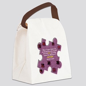 Autism Have A Heart Canvas Lunch Bag