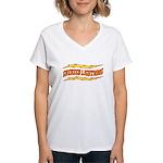 Greased Lightning Women's V-Neck T-Shirt