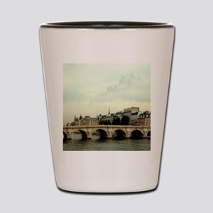 The many bridges crossing the Seine Riv Shot Glass