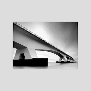 The Zeeland bridge, connecting isla 5'x7'Area Rug
