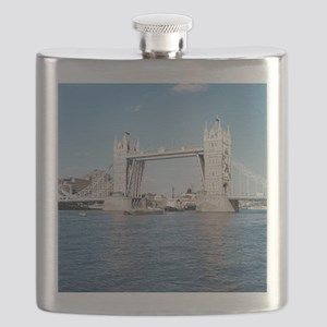 Tower bridge over the River Thames. Flask