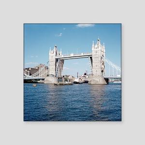 """Tower bridge over the River Square Sticker 3"""" x 3"""""""