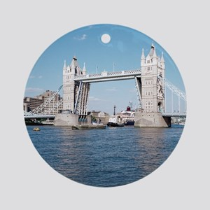 Tower bridge over the River Thames. Round Ornament