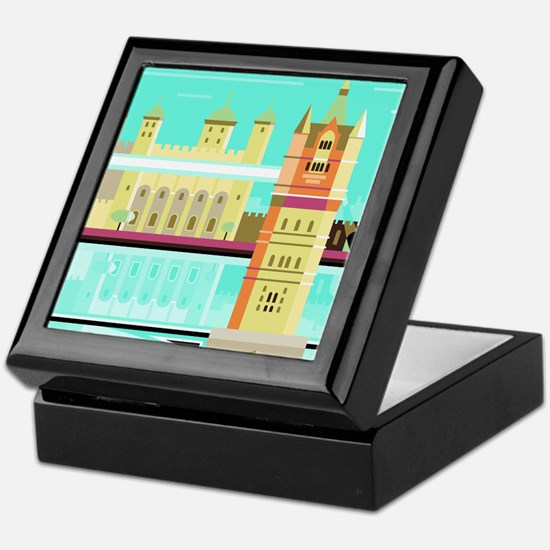 Tower Bridge and the tower of London, Keepsake Box