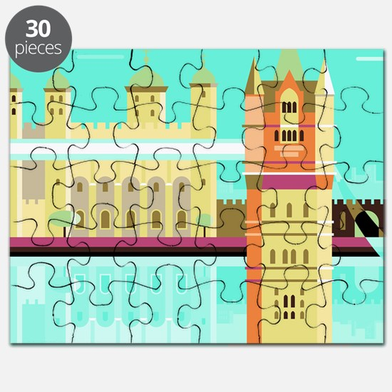 Tower Bridge and the tower of London, Unite Puzzle