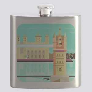 Tower Bridge and the tower of London, United Flask