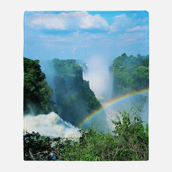 Victoria Falls, Zimbabwe Throw Blanket