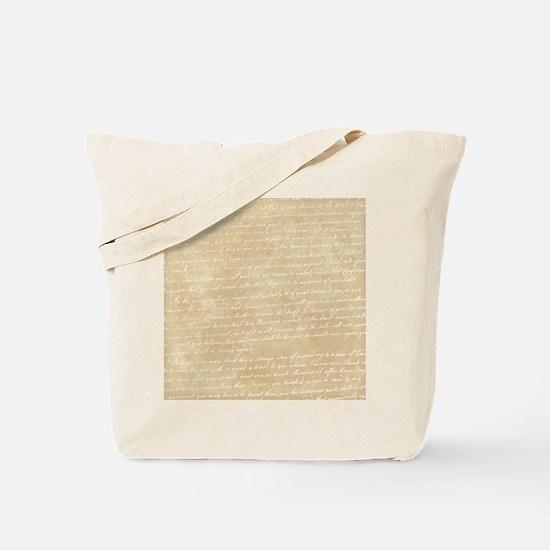 Vintage Script Tote Bag