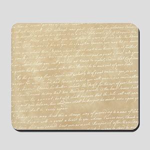 Vintage Script Mousepad