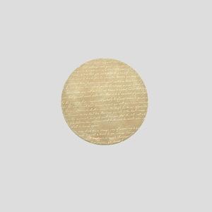 Vintage Script Mini Button