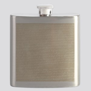 Vintage Script Flask