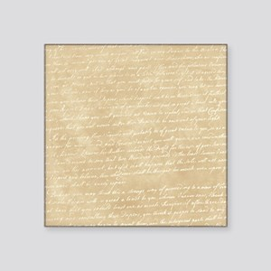 "Vintage Script Square Sticker 3"" x 3"""