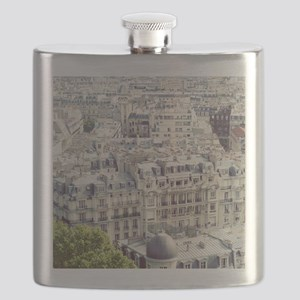 View of roofs of Paris. Flask