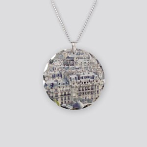 View of roofs of Paris. Necklace Circle Charm