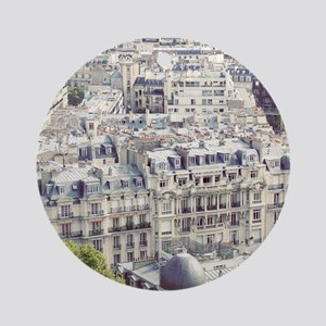View of roofs of Paris. Round Ornament
