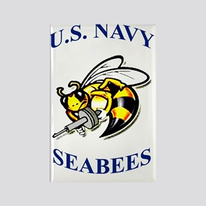 us navy seabees Rectangle Magnet