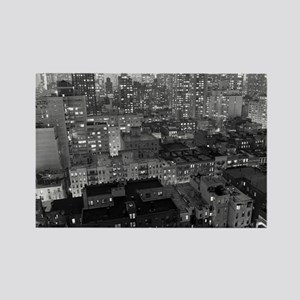 View of New York City buildings a Rectangle Magnet