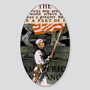 Join The Navy WW1 Sticker (Oval)