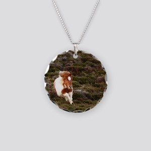 Young pony running downhill  Necklace Circle Charm