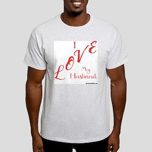 Love My Husband Logo Hot Pinky Light T-Shirt