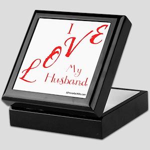 Love My Husband Logo Hot Pinky Keepsake Box