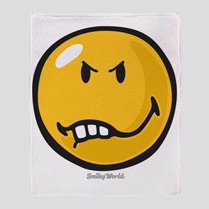 Vexed Smiley Throw Blanket