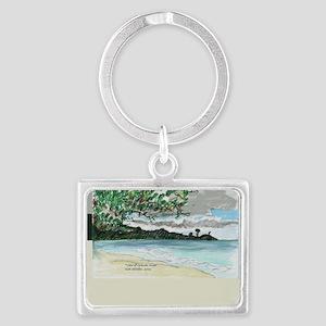 view of Grande Anse Beach Landscape Keychain