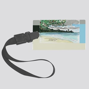 view of Grande Anse Beach Large Luggage Tag
