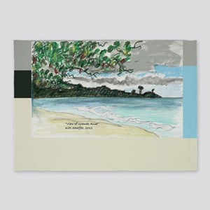 view of Grande Anse Beach 5'x7'Area Rug