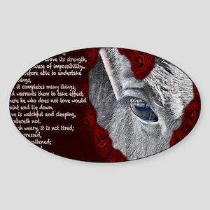 Wild horse love Sticker (Oval)