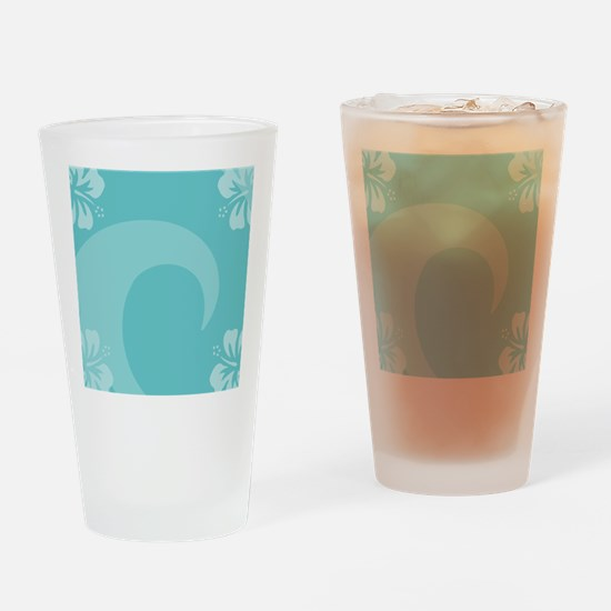 Aqua Square Locker Frame Drinking Glass