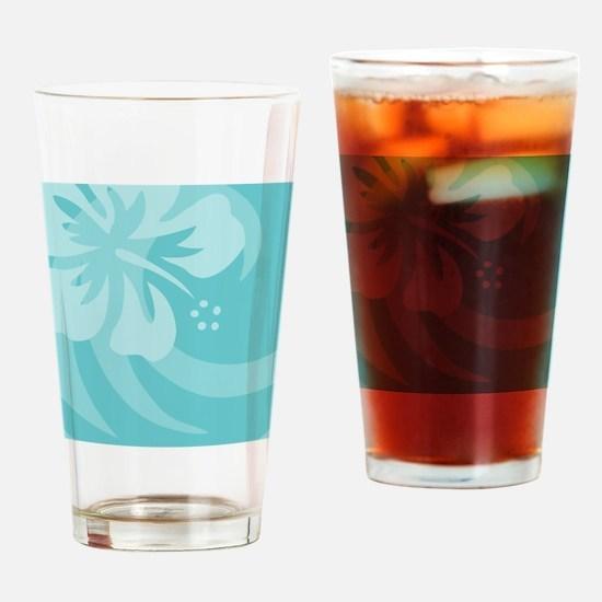 Aqua Round Ornament Drinking Glass