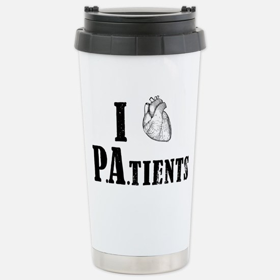 I Heart Patients Stainless Steel Travel Mug