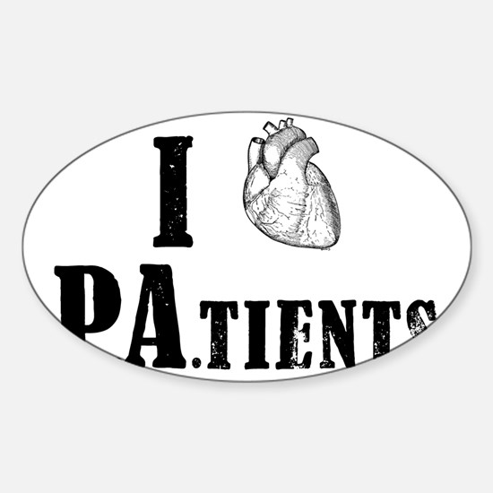 I Heart Patients Sticker (Oval)